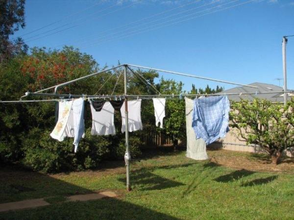 Hills Hoist with washing