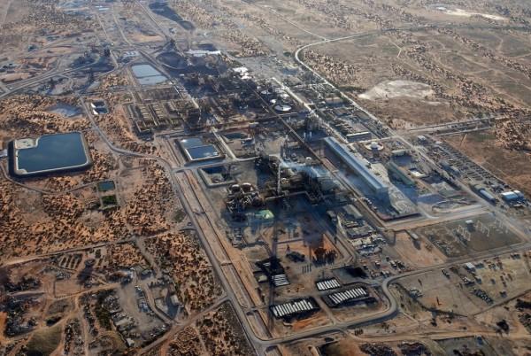 Aerial view of the Olympic Dam Copper/Uranium Mine
