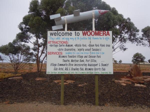 Woomera Sign