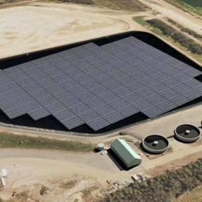 Первая солнечная станция на воде